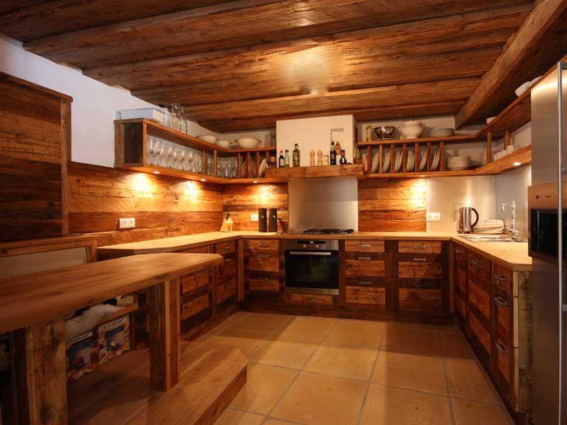 rustikale k che aus altholz k chen pinterest. Black Bedroom Furniture Sets. Home Design Ideas