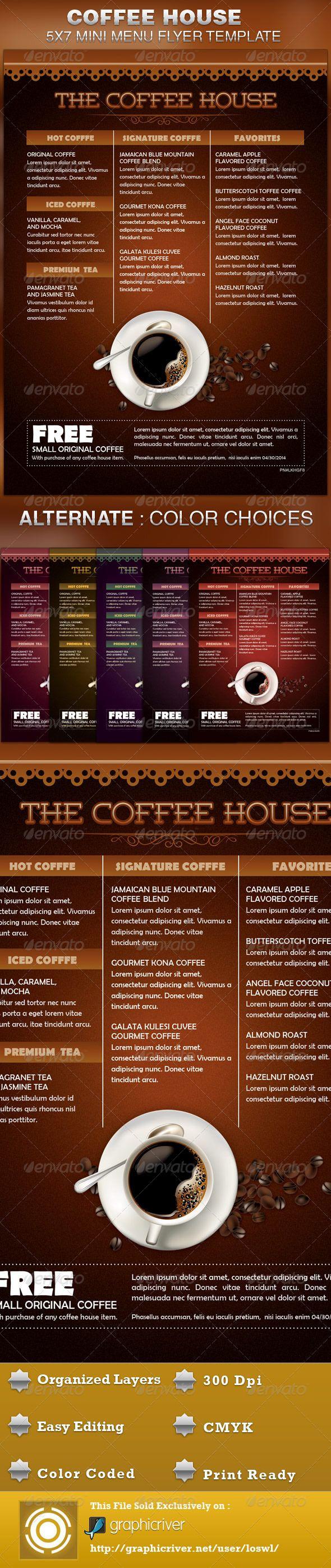 Coffee House Mini Menu Flyer Template