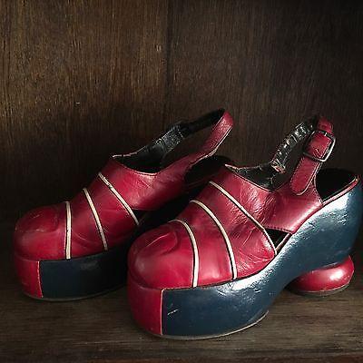 0fc6e920def Vintage-70-039-s-Platform-Shoes-Originals-GLAM-ROCK-shoes-Disco-Rocker- Leather-8-1-2