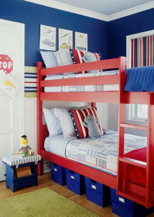 Under Bed Storage Bs Room Blue, Red Bed Frame. Slide From Bed To Floor Red  Or Blue. Part 73