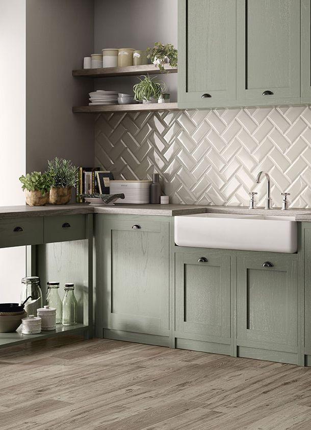 Metrofliesen für die Country-Küche #kücheideeneinrichtung