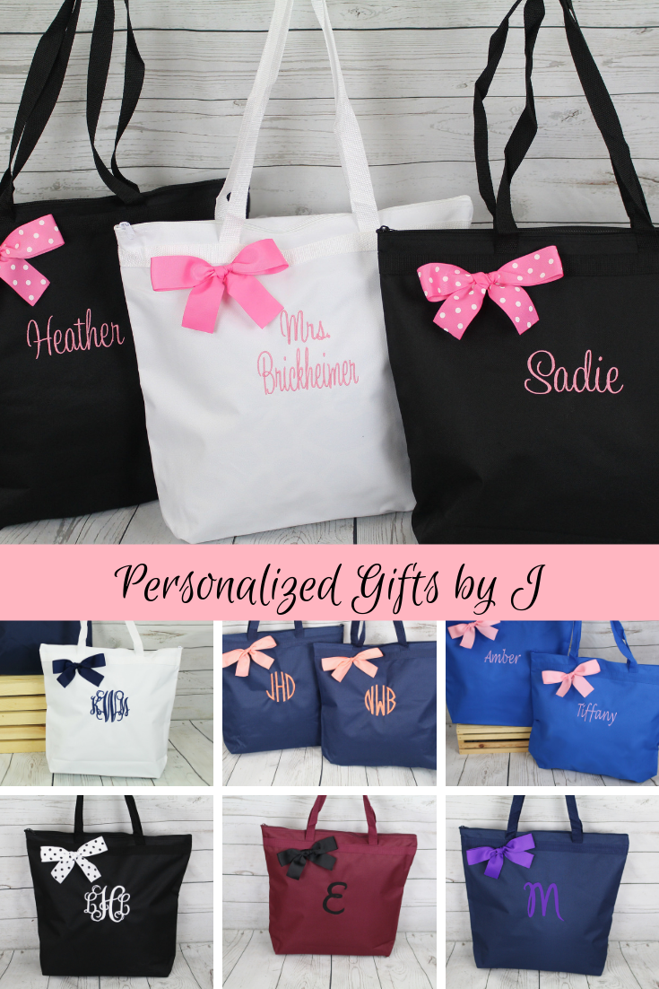 Disney Embroidery Bridal Wedding Embroidered Bridal Totes Disney Bride Party Bags Bridesmaid Gifts