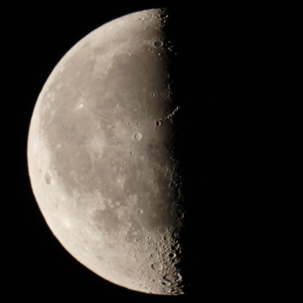 "About 15/28ths of a moon. Taken with a Cannon 20D through a 9.25"" telescope with a .65X focal reducer."