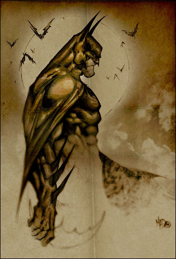 Batman // pencil sketch by Joe Madureira (1999)