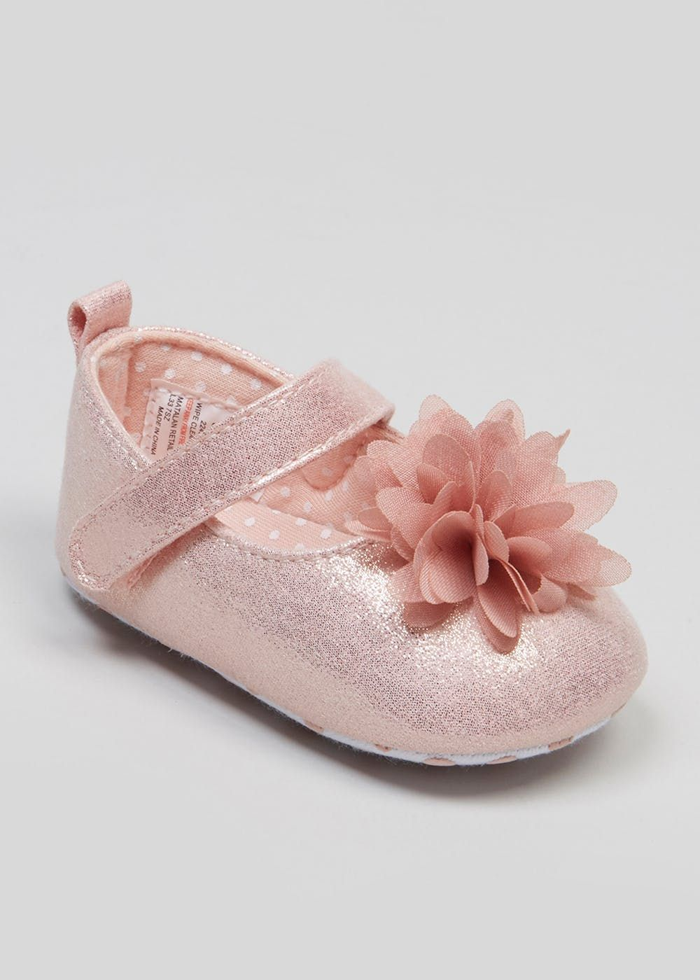 3112bdb90fb5 Girls Soft Sole Occasion Baby Shoes (Newborn-18mths) – Pink – Matalan