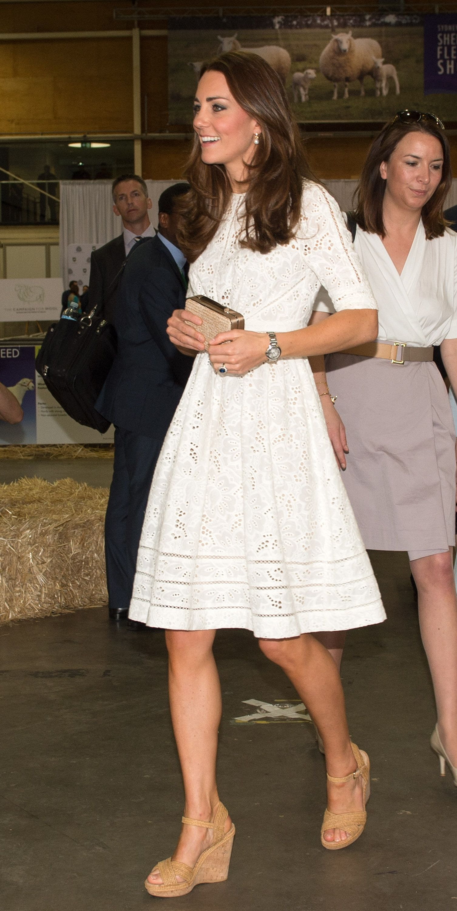 Get all the shopping details on Kate Middleton's amazing Stuart Weitzman  cork wedges