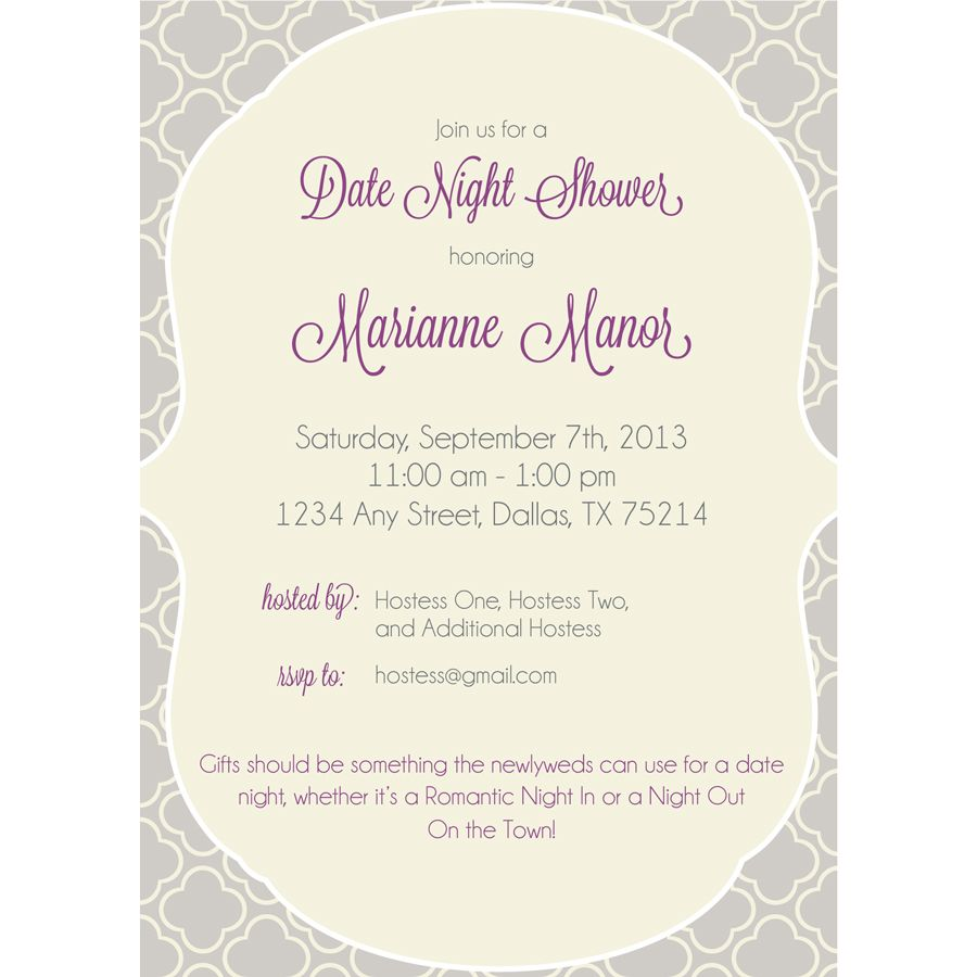 date night bridal shower invitations google search