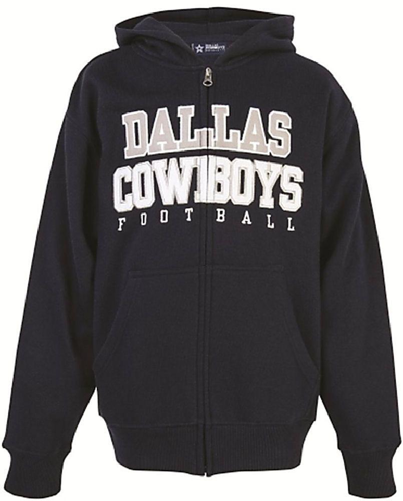 69db664e8 Dallas Cowboys Mens Navy Hamlin Embroidered Full-Zip Fleece Hoodie  Sweatshirt  54.95