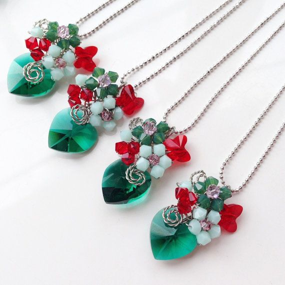Christmas necklace  Christmas Jewellery  Christmas by PastelGems