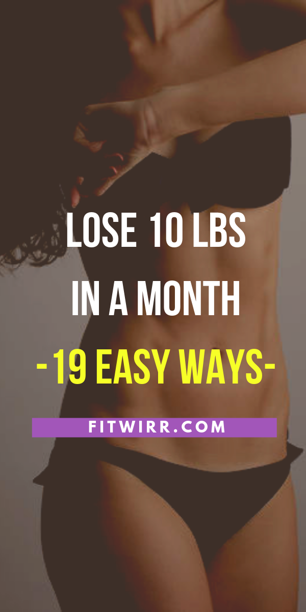 how to loose 10 kgs in a month