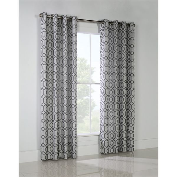 Shop Legacy 95 In Grey Polyester Grommet Room Darkening Single Curtain Panel At Lowes Canada Find Our Selection Of Curtains Drapes The Lowest Price
