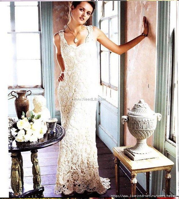 Uncinetto d\'oro: Meraviglioso abito da matrimonio!!! | Nozze | Pinterest