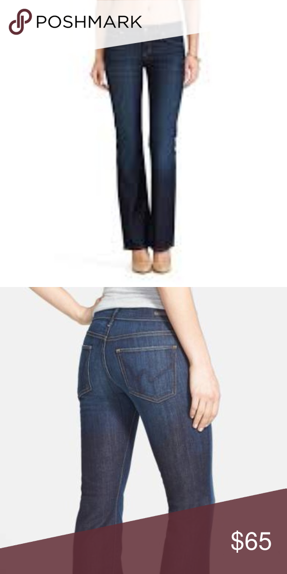 ed39f73f8af Citizens of Humanity Dita Petite Bootcut Jeans 27 98% cotton 2% elastan.  Machine wash. Front rise approx 8