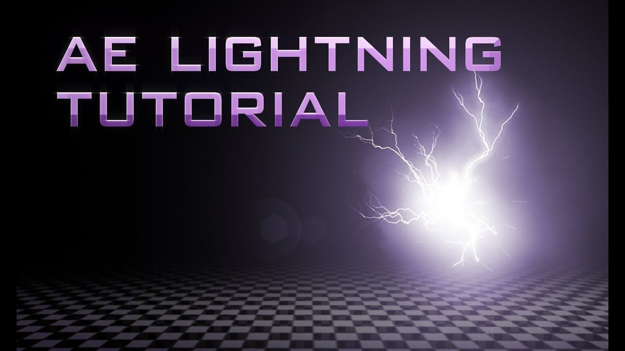 After Effects Tutorial Flash Lightning Sparks Trapcode