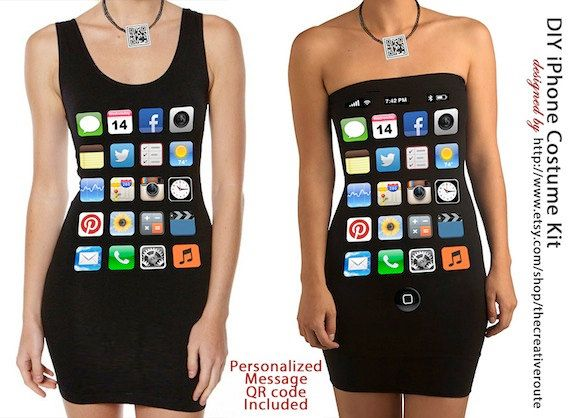 iphone costume. diy costumes iphone dress kit no sew you are \ iphone costume
