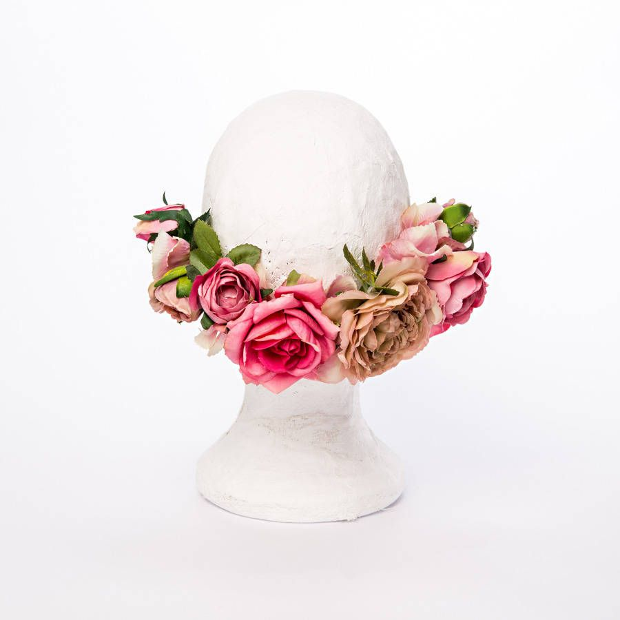 Jemma Asymmetric Flower Crown By Florrie Eve Notonthehighstreet