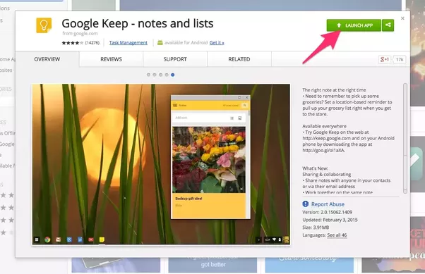 Can I download Google Keep app for Mac OS X without