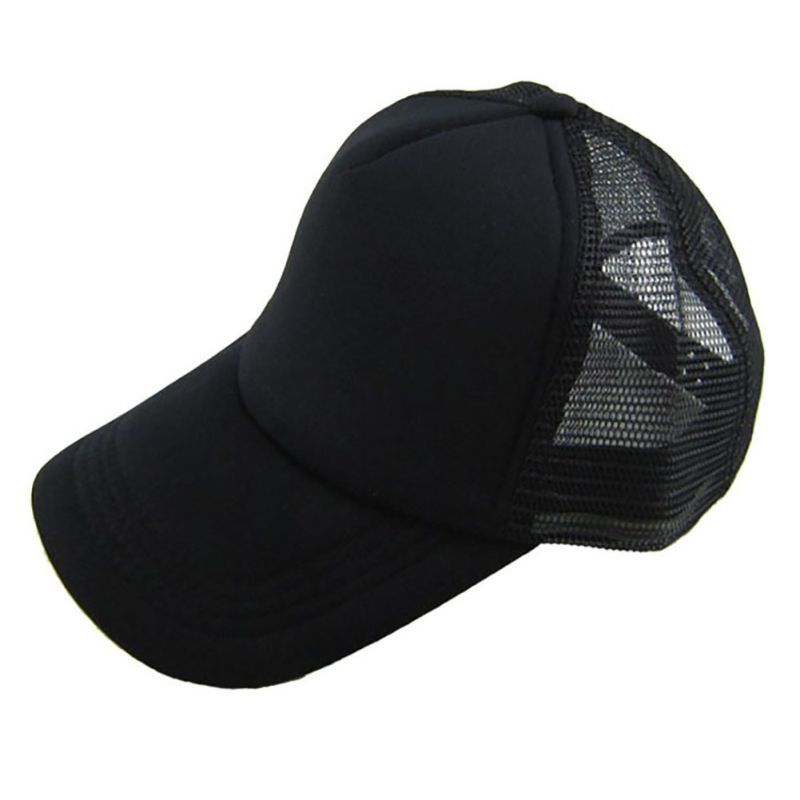 72077d63d42 Cozy Unisex Attractive Summer Sport Hat Solid Baseball Cap Trucker Mesh  Blank Visor Adjustable Hats