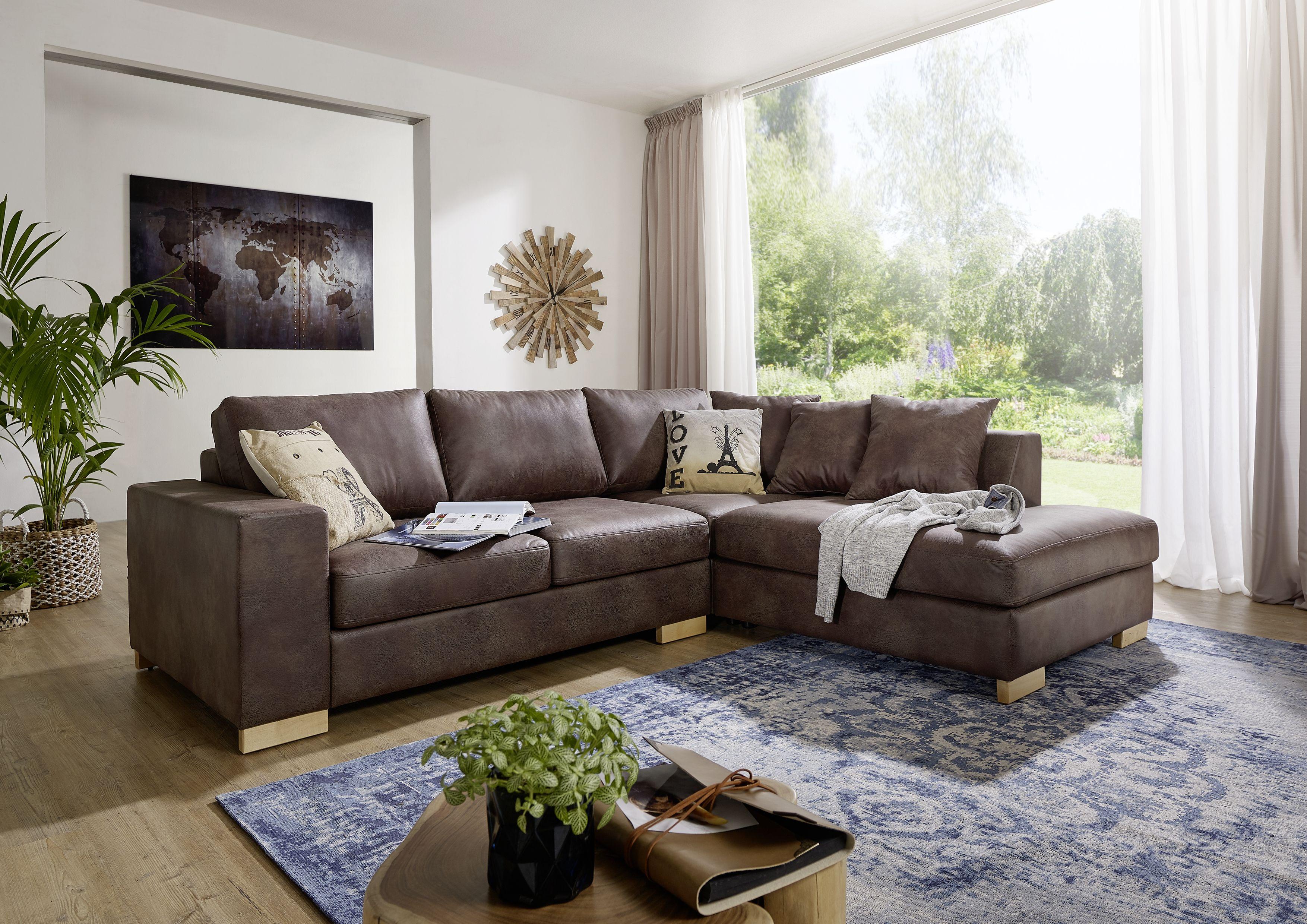 Couch Versandfrei Kaufen Massivmoebel24 Ecksofa Sofa Wohnlandschaft Wohnzimmer Sofa