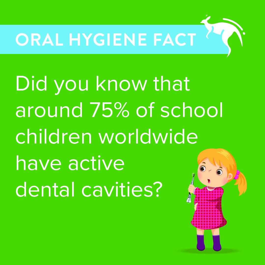 Did you know around 75 of school children worldwide have
