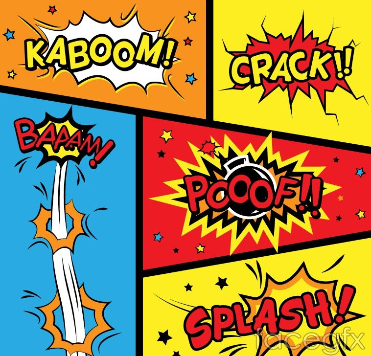 Free download 5 comic-style language box vector  Free vector