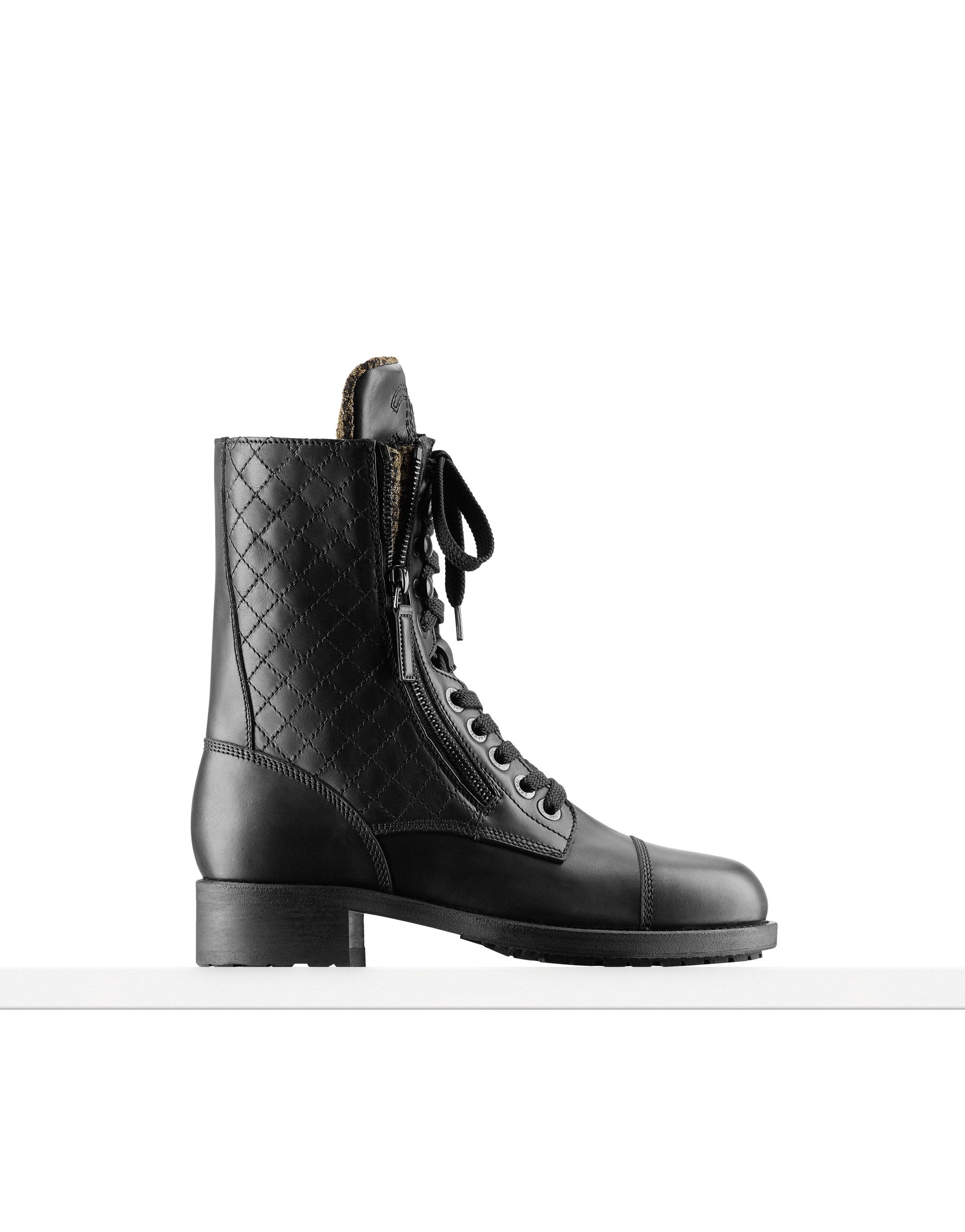 chanel Calfskin and tweed high boots   CHANEL in 2019   Boots, Shoes ... cc4d2b768d