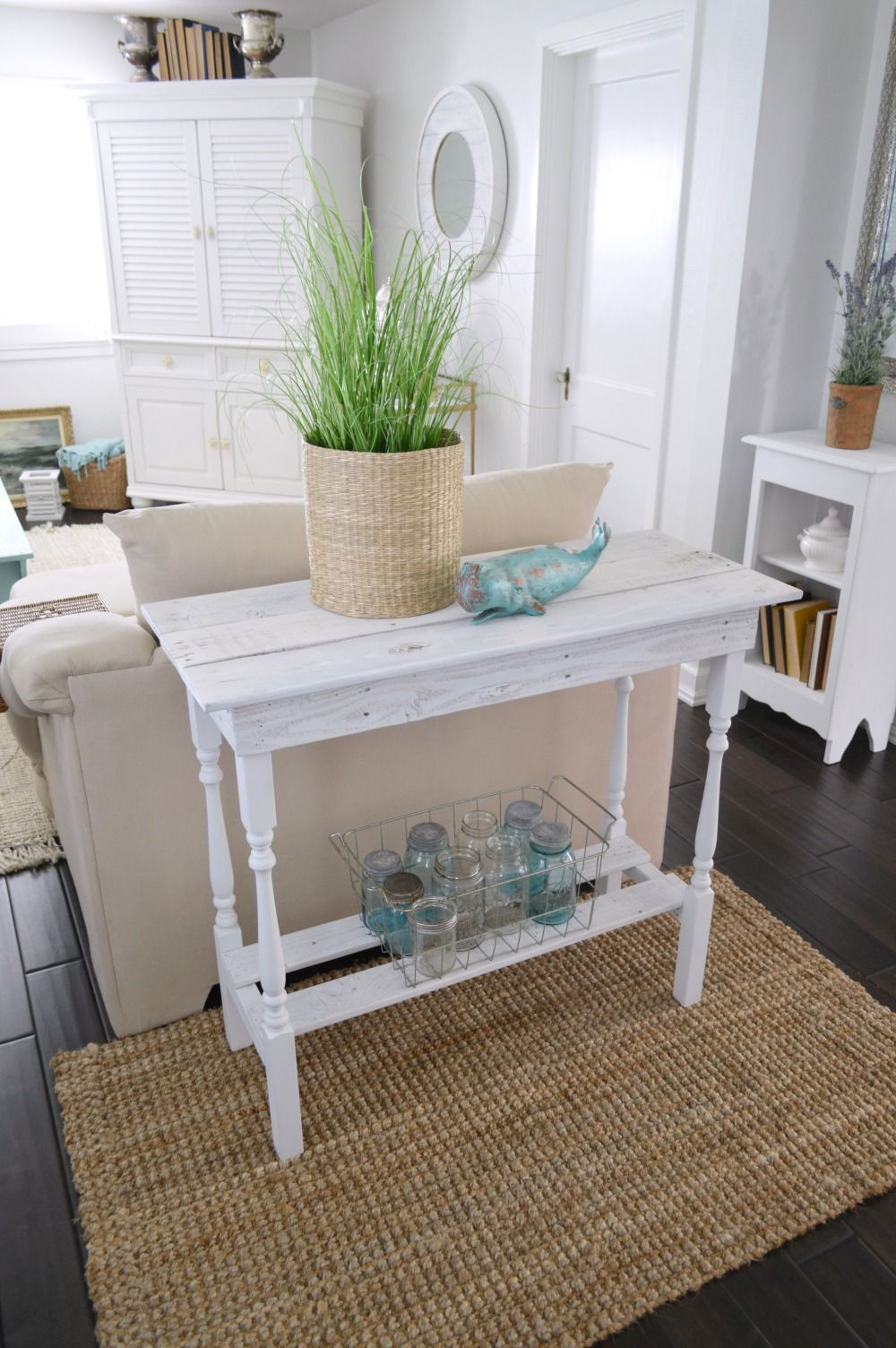 Diy white washed wood table decor furniture wood table