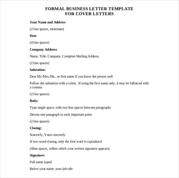 business letter template free word pdf documents for sample home