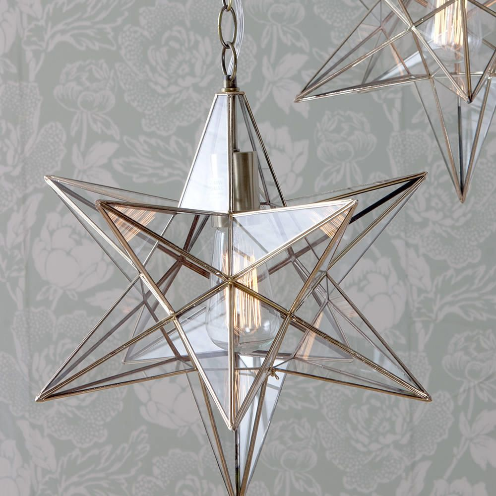 C01 lc2012 star shaped glass lantern ceiling light pendant nicklin star glass pendant ceiling light brass from litecraft mozeypictures Image collections