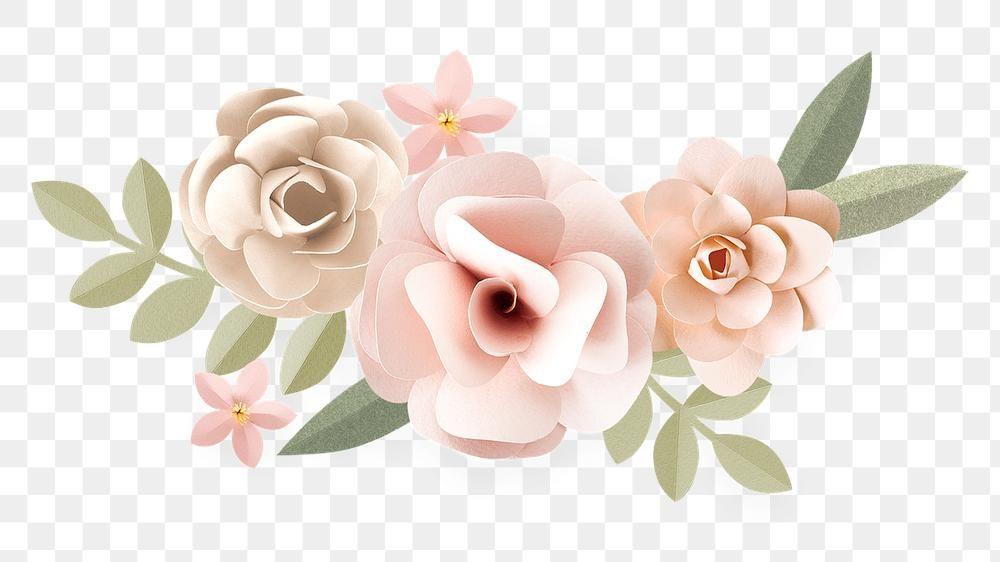 Download Premium Png Of Pastel Papercraft Flower Design Element 2401254