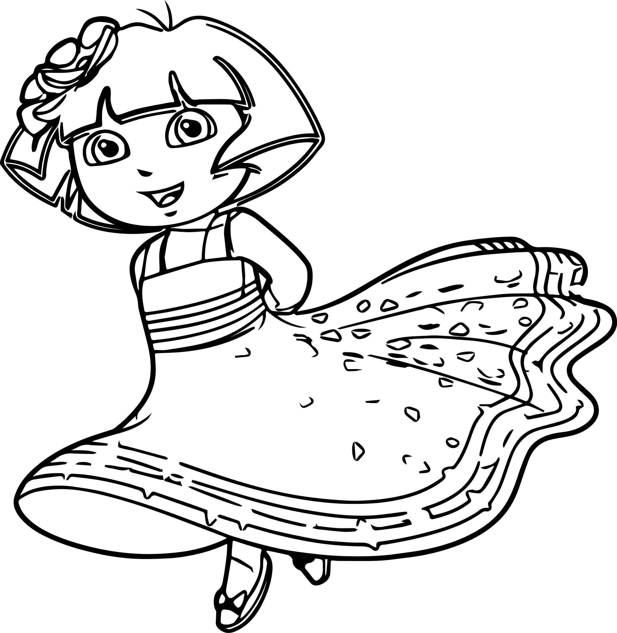Princess Dora Coloring Pages With Images Nick Jr Coloring