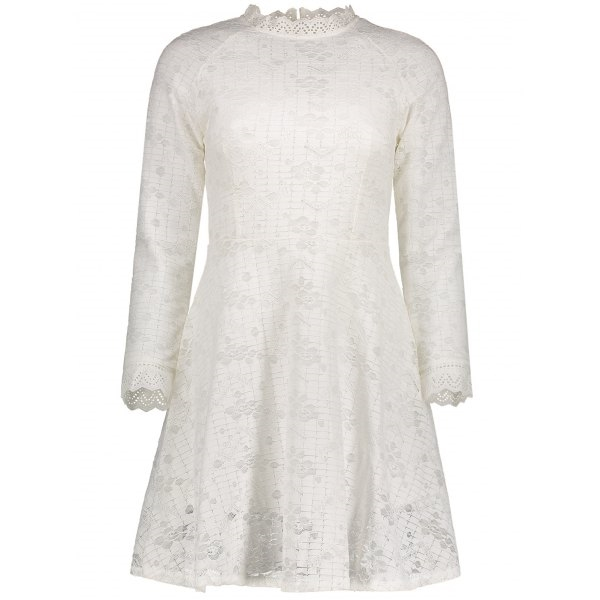 27.11$  Watch here - http://di7zl.justgood.pw/go.php?t=207427004 - Long Sleeve High Waist Lace Dress 27.11$
