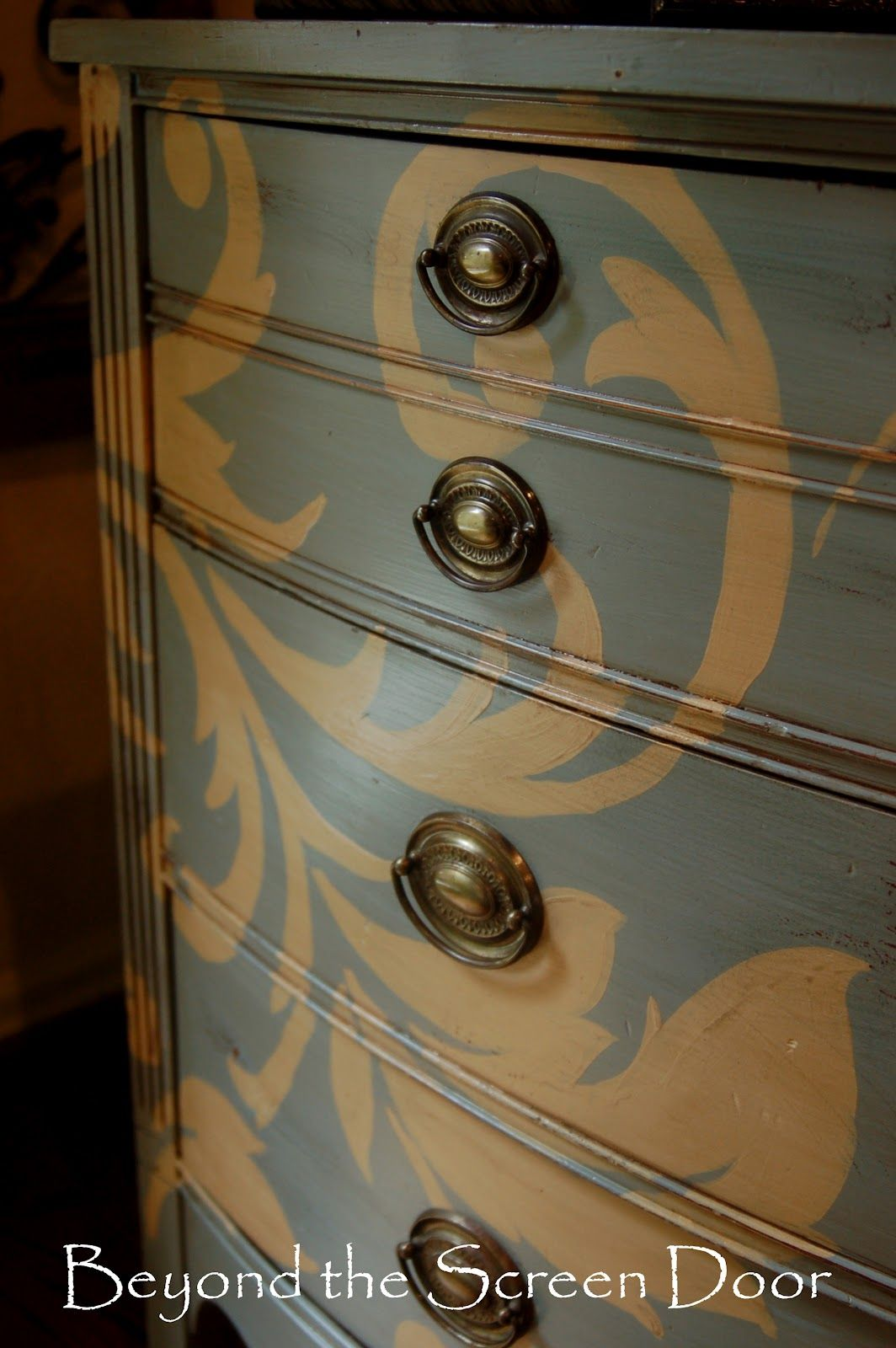 Beautiful Hand Painted Dresser Painted Furniture Hand Painted