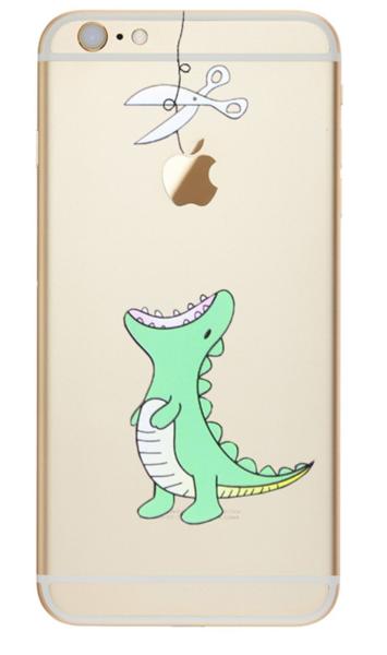 Handyschalen - Dino frisst Apple Handyhülle Iphone 6 6s 7 Silikon - ein Designerstück von Isaboe bei DaWanda #coolelectronics