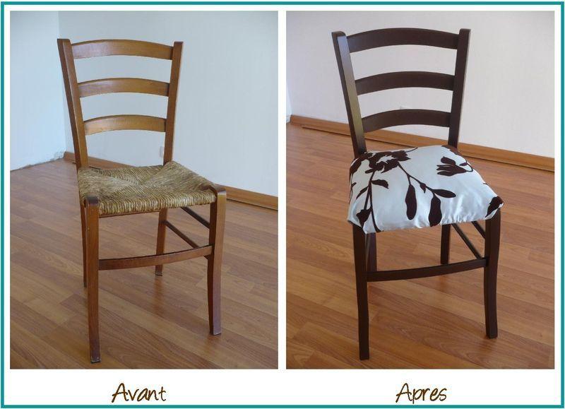Relooking de chaise id es d co pour la chambre pinterest - Recouvrir une chaise ...