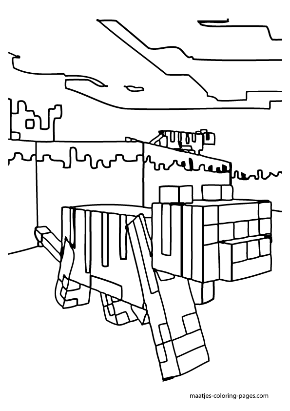 Printable Minecraft Ocelot Coloring Pages