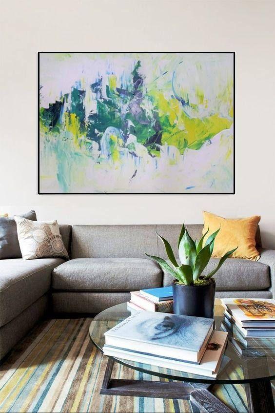 Acrylic Painting Abstract Huge Vivid Figurative Seascape Creative Wall Art Study Room Decor Extra Wall Art Living Room Abstract Canvas Painting Canvas Painting