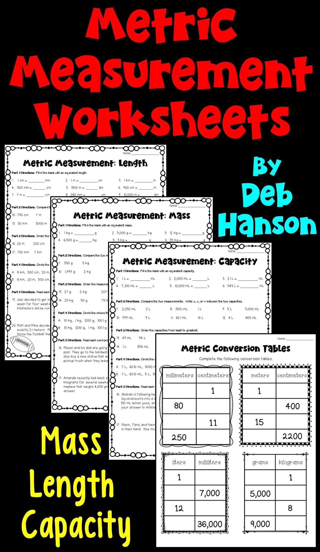 Reading A Metric Ruler Worksheet Metric Measurements