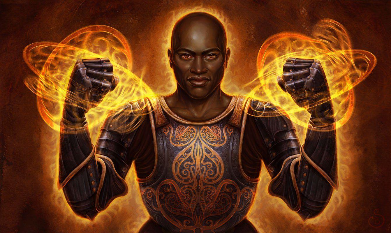 Wizards Art Hakeem 2d Fantasy Armour Magic Wizard Mage