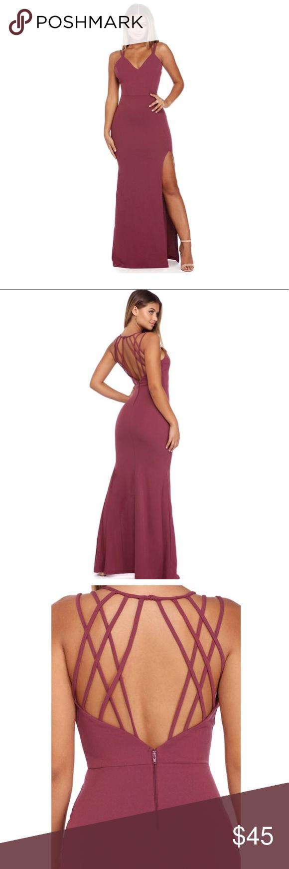 Windsor store full length mauve multi strap dress windsor store