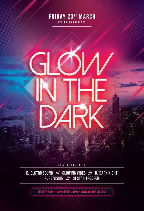 Glow In The Dark Flyer by styleWish  Download the PSD design