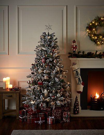 6ft Snowy Christmas Tree M S Snowy Christmas Tree Christmas Tree 6ft Christmas Tree
