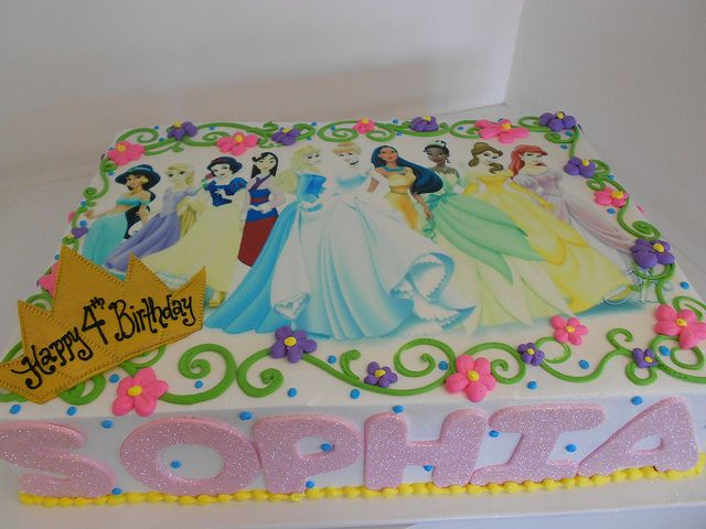Disney Princess Sheet Cake 2052 With Images Disney Princess