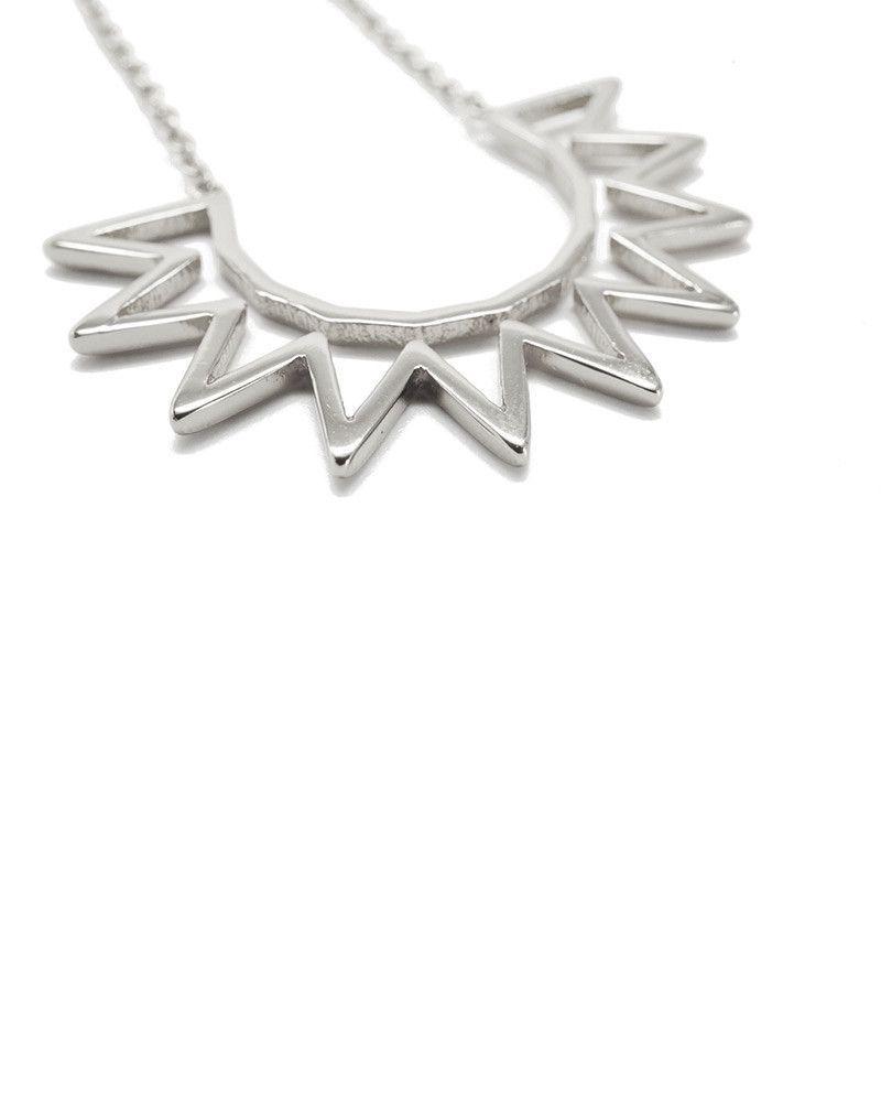 Joyiia | Silver Sunburst Necklace