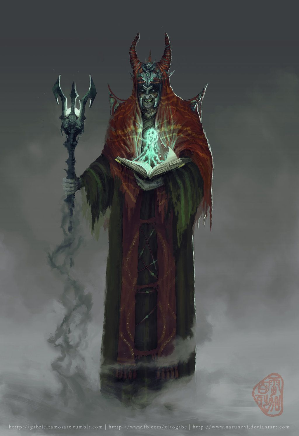 Warlock Necromancer Character Concept By Gaberamos On