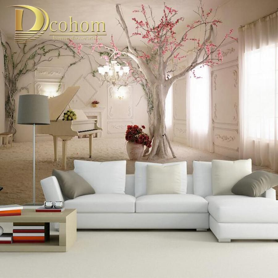 Tree Design Wallpaper Living Room 3d Photo Wallpaper Nature Park Tree Murals Bedroom Living Room