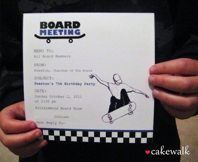 Skateboard Party Invitation | Skateboard, Party invitations and ...