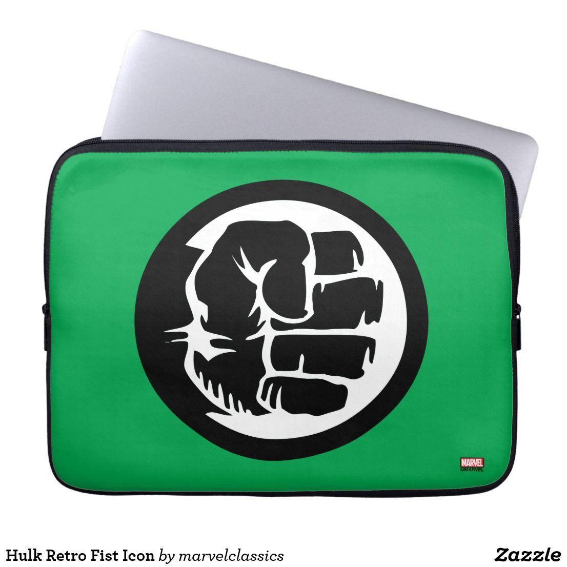 Hulk Retro Fist Icon Computer Sleeve