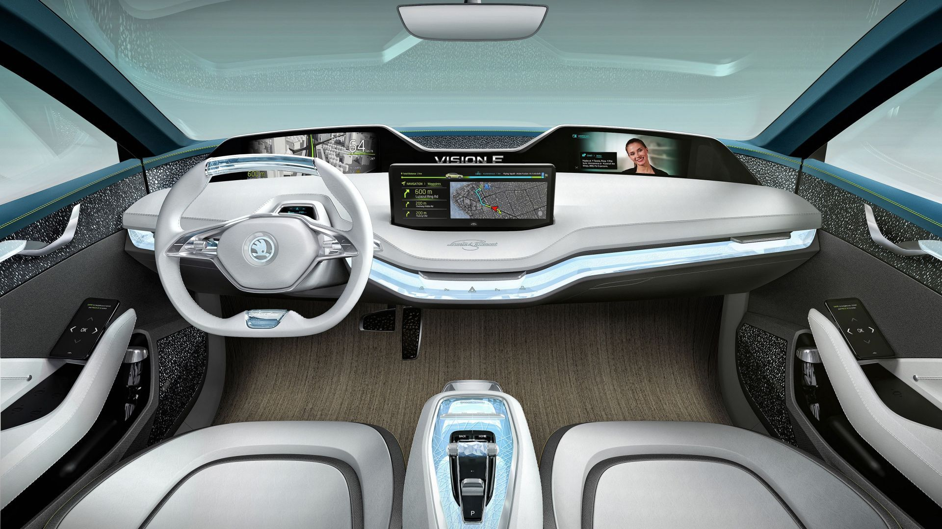 Skoda Vision X electric car interior 4k horizontal