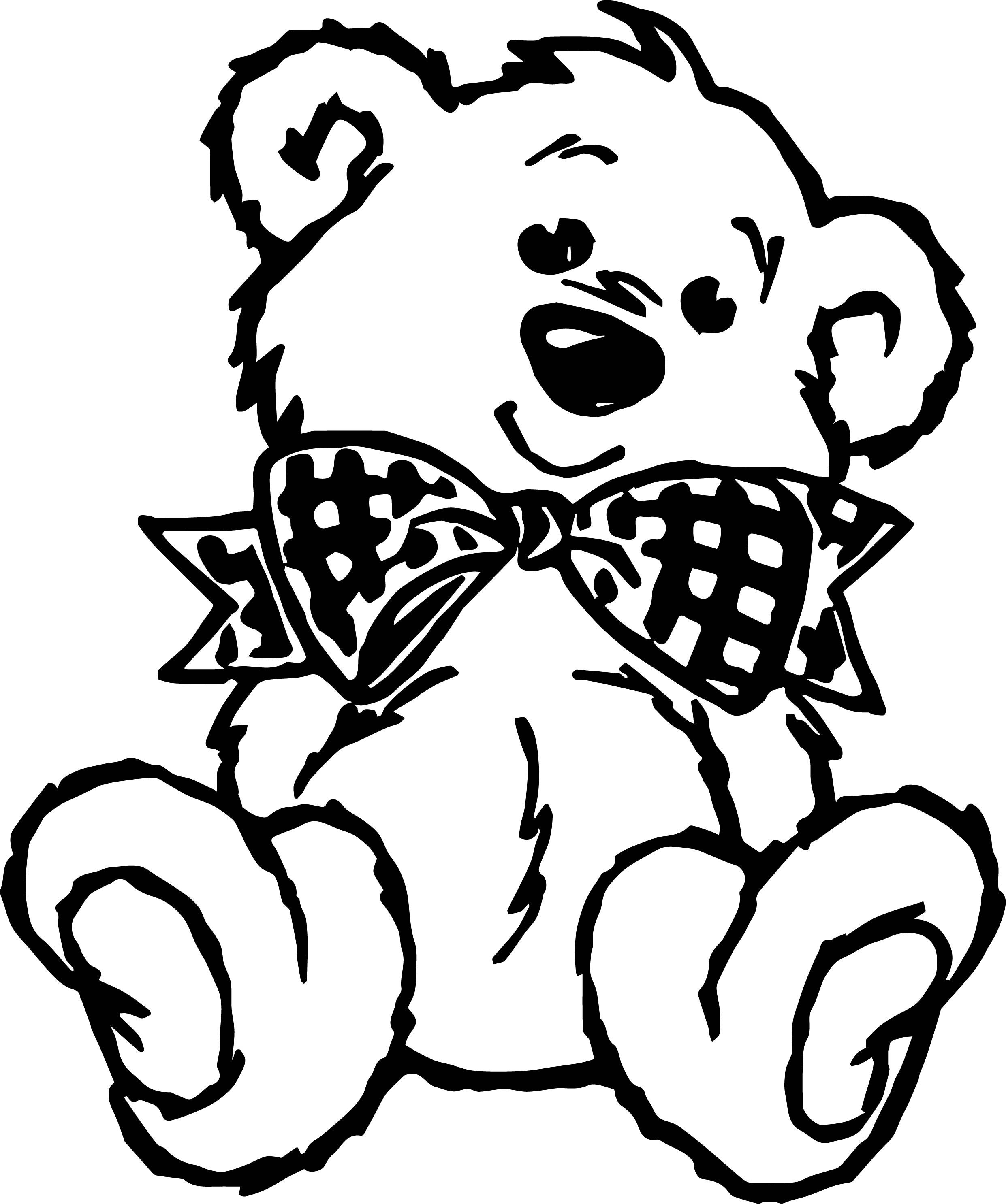 Bear Bow Tie Coloring Page | Bear bows, Coloring pages ...